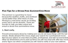 http://spartanvanlines.com/five-tips-for-a-stress-free-summertime-move - The summer is a good time to move because the weather, traffic, and workload can be better than other times of year. Moving to a new home can be an exciting event, but it can be stressful. These are five tips to help you take control and ensure a stress-free summertime move.