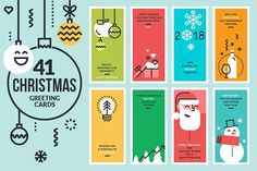2018 Christmas Cards and Banners by PureSolution on @creativemarket