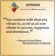 You combine with what you vibrate to, so let us all now vibrate to success, happiness and abundance. - Florence Scovel Shinn