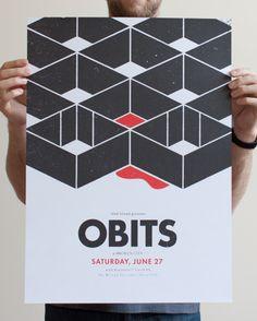 Orbits gig poster design