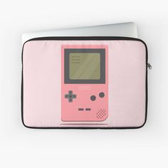 'Pink Nintendo Game Boy ' Laptop Sleeve by SinandTonic Nintendo Games, Nintendo Consoles, Macbook Air Pro, Game Boy, Sleeve Designs, Laptop Case, Iphone Wallet, Laptop Sleeves, Cases