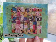 No turning back - postcard sent to iHanna, in the Postcard Swap hosted by @ihanna #diypostcardswap