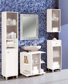 mueble debajo del lavabo - Buscar con Google Remodeling Mobile Homes, Home Remodeling, Bathroom Storage, Small Bathroom, Bathroom Ideas, Wash Basin Cabinet, Ideas Baños, Bedroom Wall Designs, Table Storage
