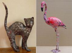 Paper Mache Sculptures by Aude Goalec
