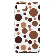 Bubbles in Brown iPhone 5 Cover