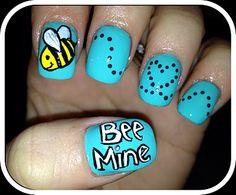 Nailed Daily bee VALENTINE #nail #nails #nailart