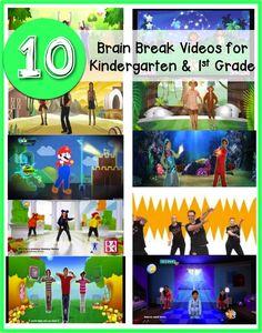10 Brain Break Videos for Kindergarten & 1st Grade.