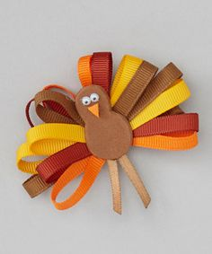 Look what I found on #zulily! Picture Perfect Hair Bows Brown Loop Turkey Clip by Picture Perfect Hair Bows #zulilyfinds