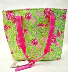 Lilly Pulitzer Insulated Cooler with wine and bottle opener - would love this for a bridesmaid gift!