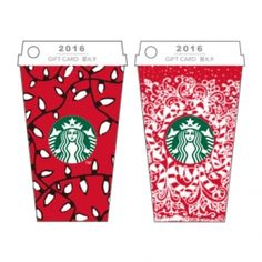 Mini Red Cup Gift Card-Holiday Lights & Candy Canes