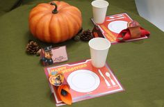 Your PAW Patrol fan will love this Thanksgiving table setting.