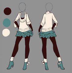 Outfit ideas more anime dress, outfit drawings, manga clothes, drawing clot Manga Clothes, Drawing Clothes, Outfit Drawings, Diy Clothes, Anime Outfits, Girl Outfits, Anime Dress, Dress Drawing, Manga Drawing
