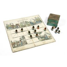 Board game - The Game of Besieging; Das Belagerungspiel
