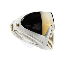 Dye Paintball / Airsoft Mask / Goggle - White and Gold Airsoft Mask, Airsoft Guns, Paintball Gear, Nerd, Half Face Mask, Face Masks, Equipment For Sale, Tactical Gear, Mask Design