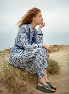 beside the silver sea: hollie may saker by agata pospieszynska for uk harper's bazaar july 2016   visual optimism; fashion editorials, shows, campaigns & more!