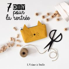 Cat kit - Pop Couture - Video tutorial to sew a lined cat kit. Mason Jar Crafts, Mason Jar Diy, Sewing Projects For Beginners, Diy Projects To Try, Fanni Stitch, Diy Trousse, Make Up Tutorial Contouring, Pop Couture, Diy Hanging Shelves
