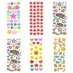 Star Award Puffy Sticker Assortment, Dimensional Sticker, Variety Series, Party Favors, Wholesale Lot