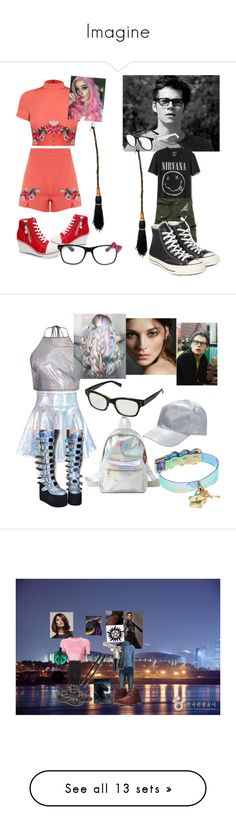 """Imagine"" by ncis-lover-dinozzo ❤ liked on Polyvore featuring Gap, Converse, Lacoste, Hello Kitty, art, T By Alexander Wang, Topshop, WithChic, Bellfield and Columbia"