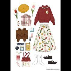 zeichnen topmodel – Keep up with the times. Look Vintage, Vintage Mode, Trendy Fashion, Fashion Art, Estilo Lolita, Anime Dress, Fashion Design Sketches, Vintage Fashion Sketches, Fashion Vintage