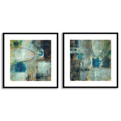 Jane Bellows's 'Tangent Point I' and 'II' Art Two Piece Set is a two piece framed paper set that comes ready to hang.