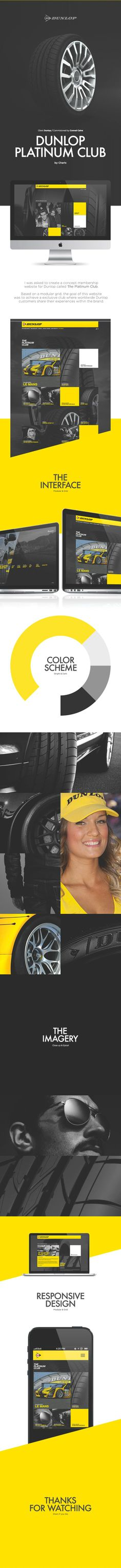 DUNLOP PLATINUM CLUB by Charlx | WEB DESIGN | Pinterest