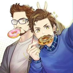 Omgomgomg Tony and Peter are soooo cute in this picture