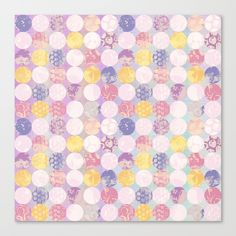 Springtime Circles Canvas Print by Noonday Design | Society6