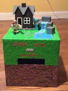 Minecraft valentines box & Minecraft diamond castle valentine box | minecraft | Pinterest ... Aboutintivar.Com
