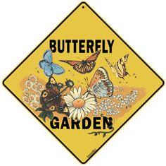 Butterfly Garden Tin Sign