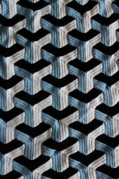 Ravelry: Illusion Blanket pattern by Julie Lapalme