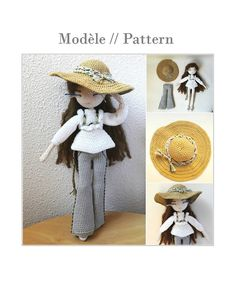 Mariette++Crochet+doll+pattern+by+Flaviecrochette+on+Etsy  Beautiful pattern to buy for exquisite doll!