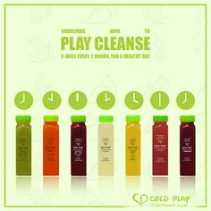Subscribe to our Play Cleanse and replace a day's solid food intake with our delicious cold pressed juices. #subscribenow #LetsColdPlay #healthy #fresh #mumbai #delivery