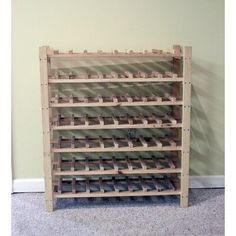 Use a single of such cost free DIY beer shelf tactics to generate a beer rack specifically for your home or office or a souvenir. Wine Bottle Rack, Wine Glass Holder, Bottle Bottle, Wine Shelves, Wine Storage, Crate Shelves, Record Storage, Wine Bottle Storage Ideas, Cabinet Storage