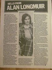 Alan Longmuir, The Bay City Rollers, Full Page Vintage Clipping