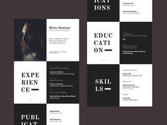 50 Inspiring Resume Designs: And What You Can Learn From Them – Design School If you like this design. Check others on my CV template board :) Thanks for sharing! Resume Design Template, Cv Template, Resume Templates, Design Resume, Templates Free, Resume Tips, Resume Cv, Resume Ideas, Cv Ideas