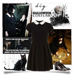 """DIY Halloween Costume"" by annabu ❤ liked on Polyvore featuring Marc by Marc Jacobs, Miu Miu, halloweencostume and DIYHalloween"