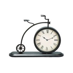 Add charm and character to your desk with the DecMode Bicycle Metal Table Clock . The clock is housed in a frame resembling a penny-farth. Clock Vintage, Vintage Metal, Vintage Style, Cottage Chic, Old Fashioned Bicycle, Bicycle Clock, Bike, Retro Bicycle, Octopus