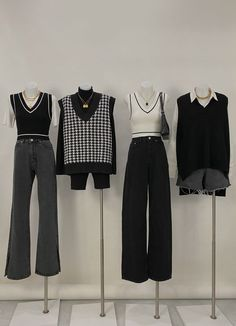 Kpop Fashion Outfits, Korean Outfits, Retro Outfits, Mode Outfits, Cute Casual Outfits, Stylish Outfits, Swag Outfits, Simple Outfits, Vintage Outfits