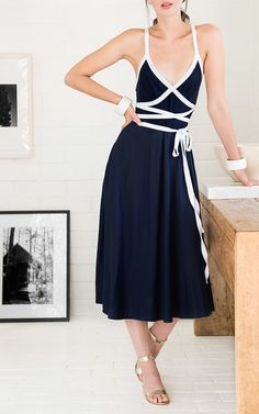 Talitha Criss Cross Dress by MDS STRIPES for Preorder on Moda Operandi