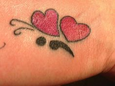 I like the semicolon as butterfly body. Different style of wings tho Semicolon Butterfly Tattoo, Henna Butterfly, Semicolon Tattoo, Butterfly Tattoo Designs, Up Tattoos, Future Tattoos, Body Art Tattoos, Small Tattoos, Cool Tattoos