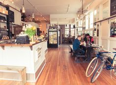 Part bike shop - part coffe shop with a community focus. Inspiring! Heritage Bicycles | Rue