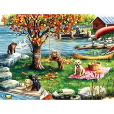FIRST FALL 1000 PIECE JIGSAW PUZZLE Ceramics Projects, Rainbow Bridge, Quality Time, Cool Artwork, 500 Piece Jigsaw Puzzles, Fun Activities, Pup, Mona Lisa, Fall