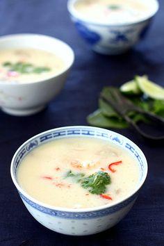 thaise soep met scampi