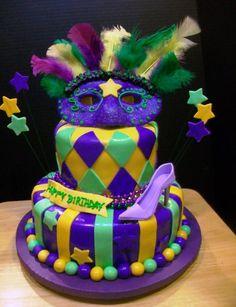 Mardi Gras Cake Chocolate And Vanilla Cake Celebration Cakes Birthday Celebration Birthday Parties