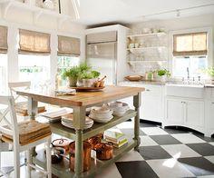 Add an Unconventional Kitchen Island