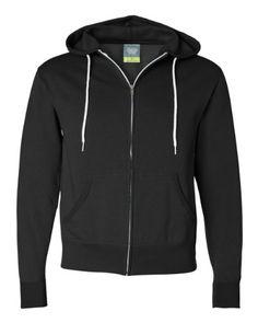 50% OFF SALE PRICE - $10.77 - Independent Trading Co. Unisex Full Zip Hooded Sweatshirt