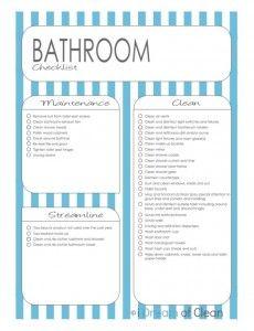 bathroom cleaning chart. bathroom cleaning chart