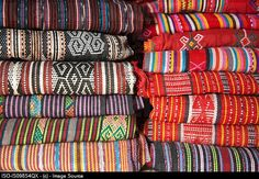 Traditional tais cloth in market in dili east timor
