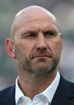 Lawrence Dallaglio Photos Photos - Former England player Lawrence Dallaglio looks on prior to the 2015 Rugby World Cup Pool D match between Ireland and Italy at the Olympic Stadium on October 4, 2015 in London, United Kingdom. - Ireland v Italy - Group D: Rugby World Cup 2015