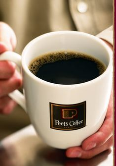 An everyday favorite. Hot cup of coffee from Peet's.